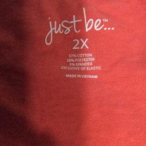 just be Tops - Layered tank top with lace overlay 2X